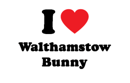 I heart Walthamstow Bunny heart clear background small PNG